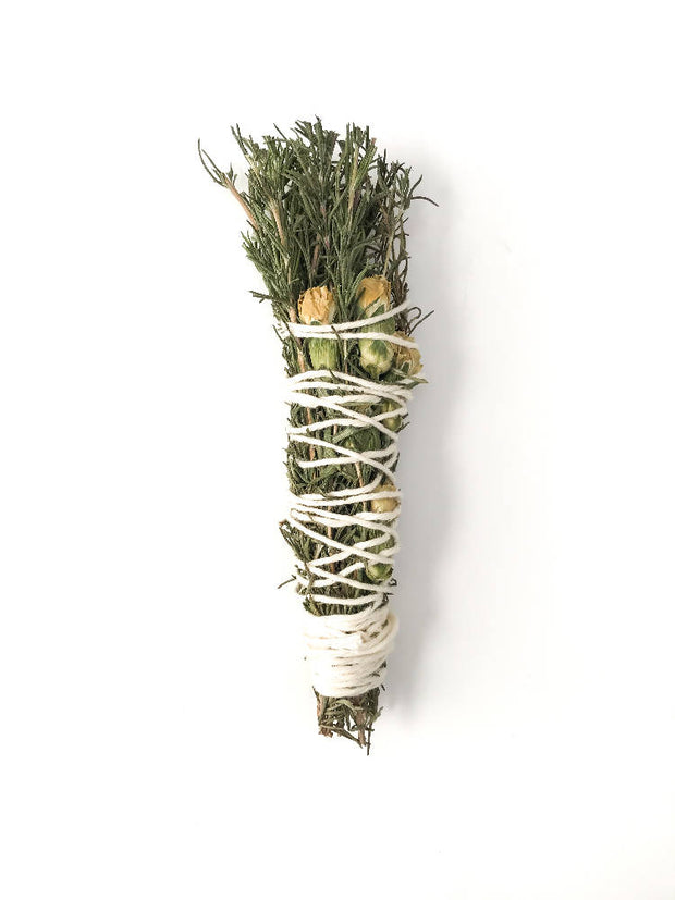 Rosemary & White Carnation | Smudge Stick