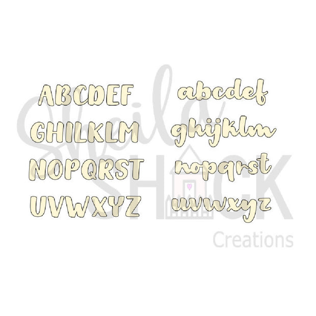 Cute wooden cut outs - Custom name or word style 2