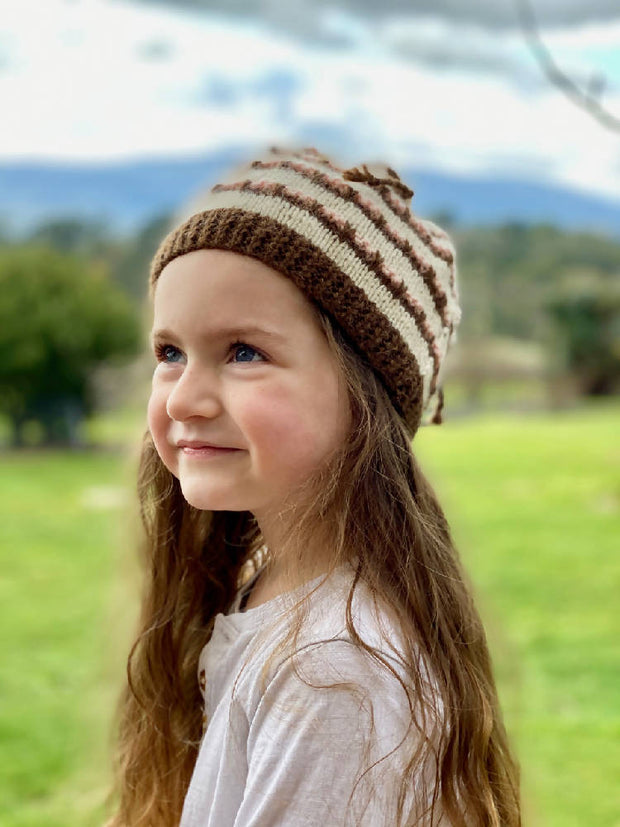 Girls's beanie - up to 4 years of age