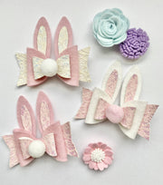 Easter Bunny Bow With Tail