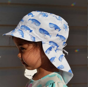 Adjustable Sunhat - Smiley Whales