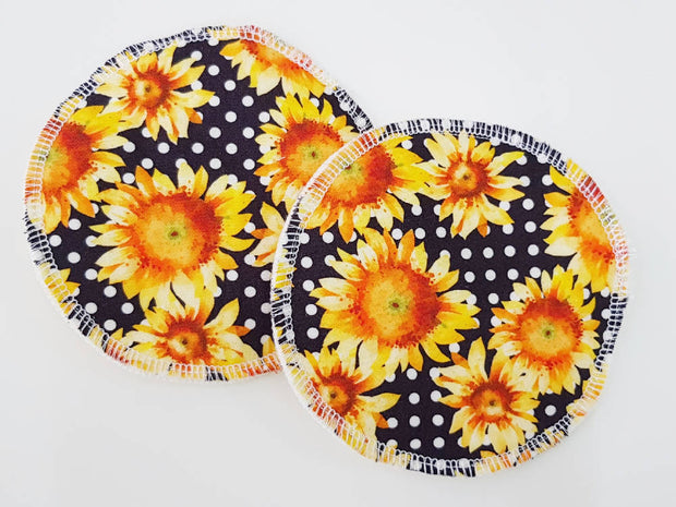 Sunflowers WATER RESISTANT Breastfeeding/nursing pads