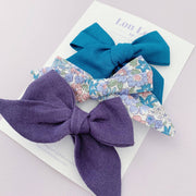 3 Hand Tied Bows || Clips - Set #31