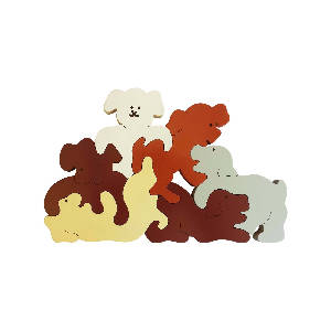 Bigzoos Wooden Dogs Puzzle