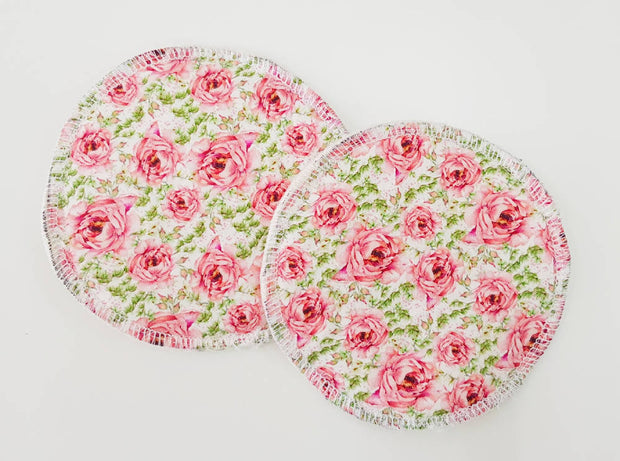 Pink roses WATER RESISTANT Breastfeeding/nursing pads