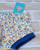 floral girls shorts, girls nappy cover, cute bummies