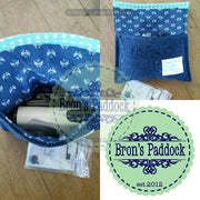 denim pouch/ coin/ card holder/ EO holder/ hearing aid pouch