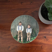 "custom 10"" round wooden photoblock"