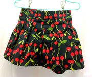 Cherry cotton shorts