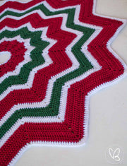 Ready Made Crochet Christmas Tree Skirt