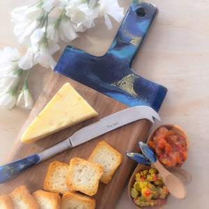 Large Paddle Stye Cheese Board, Knife and Condiment Duo
