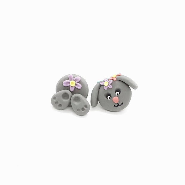 PRE ORDER - Floral Bunny Studs