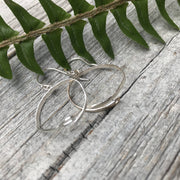 Sterling silver needle earrings for the sewing, embroidery or needle work enthusiast
