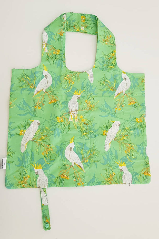 Cockatoos Roll Up Shopping Bag