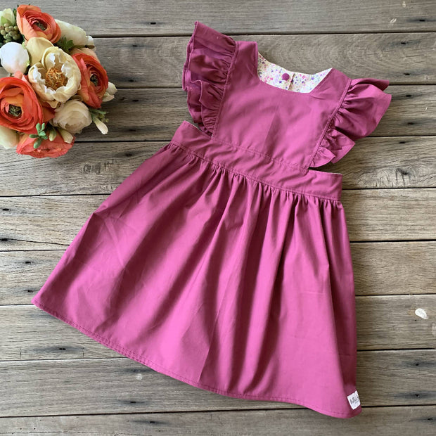 Polly Pinafore in Plum