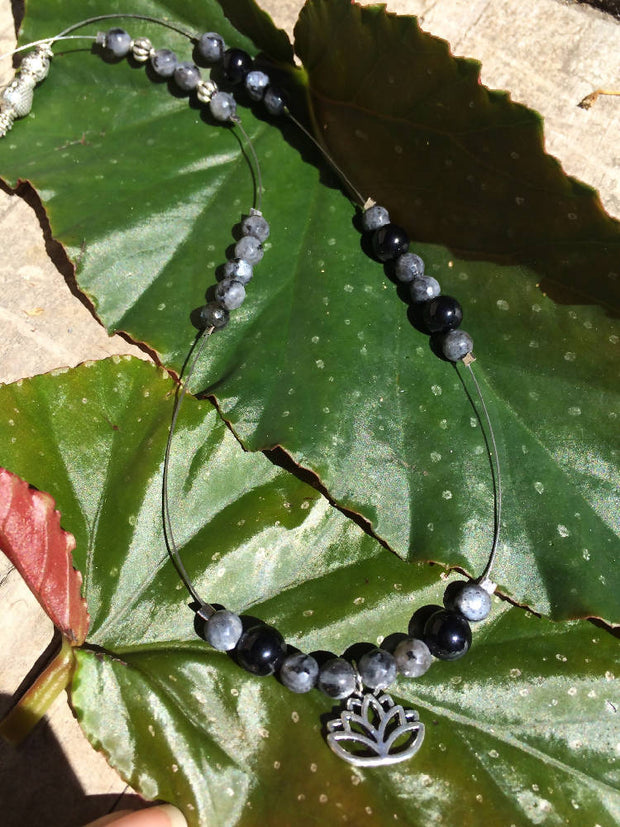 Labradorite and Onyx necklace