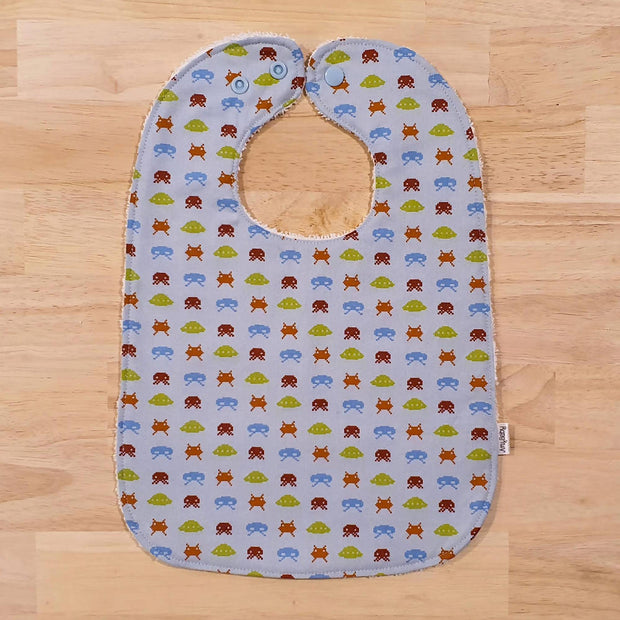Baby Bib - Dinosaur & Space Invaders (Set of 2 or sold individually)