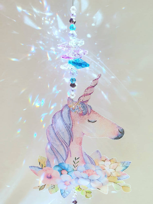 Unicorn suncatchers