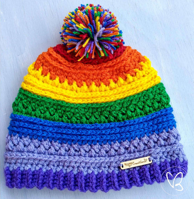 Bright Rainbow Made To Order Beanie