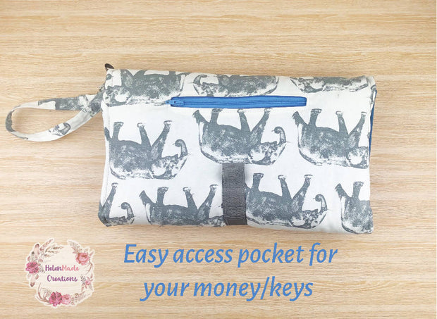 Elephants - All In One Nappy Wallet