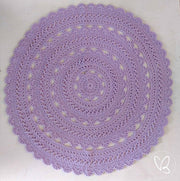 Purple Ready Made Crochet Floor Rug