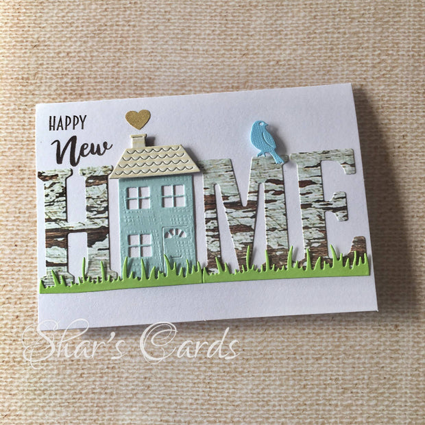 Happy New Home Card on white base