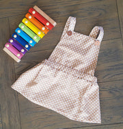 SIze 0-1 Brown pinafore dress