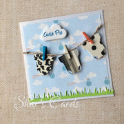 Onesies on Clothesline Baby Card