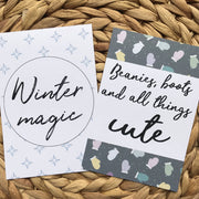 Winter Flatlay Cards