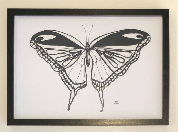 Butterfly 1 - Black & White Print