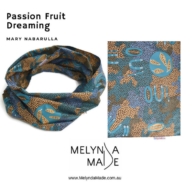 MelyndaMade Adult Infinity Scarf - Passion Fruit Dreaming