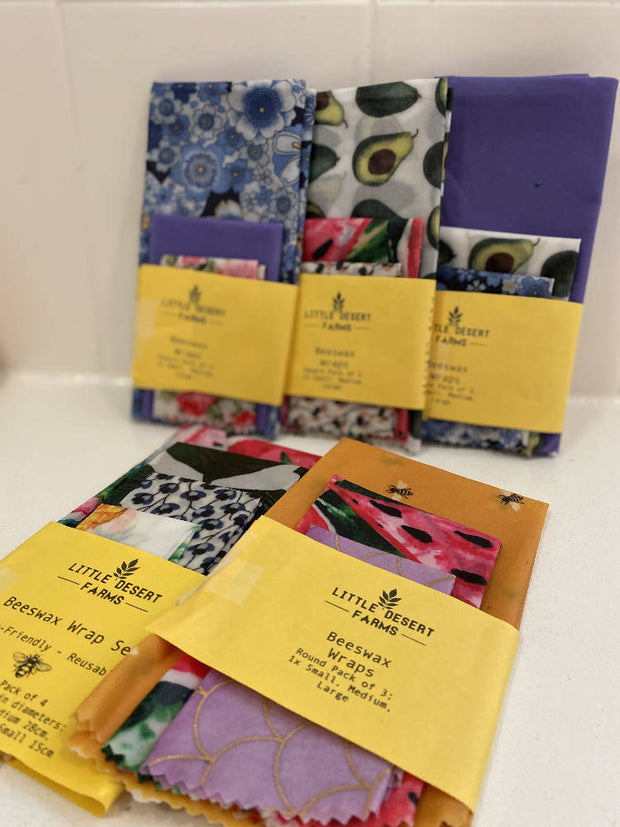 3 Pk of Beeswax Wraps