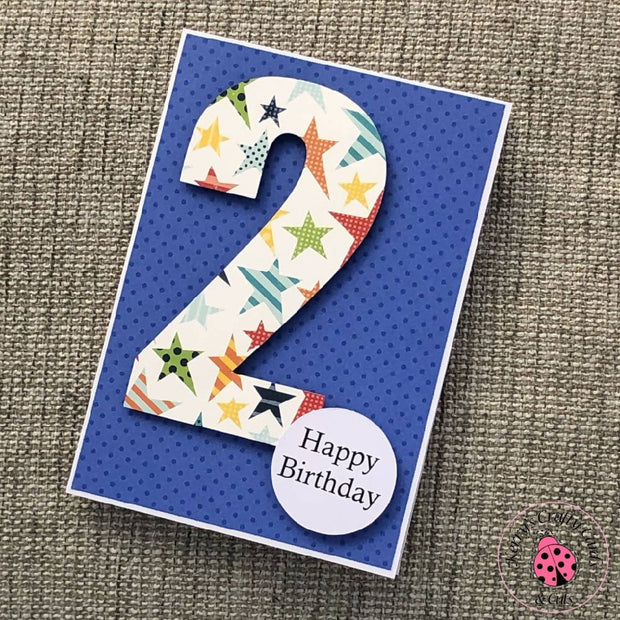 BIRTHDAY NUMBER CARD 2
