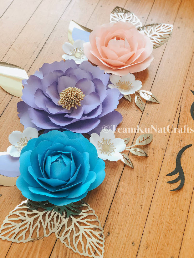 Peony Set Unicorn-Inspired Paperflowers