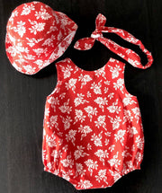 LIMITED RELEASE: Baby's Christmas set - romper, hat & hairband