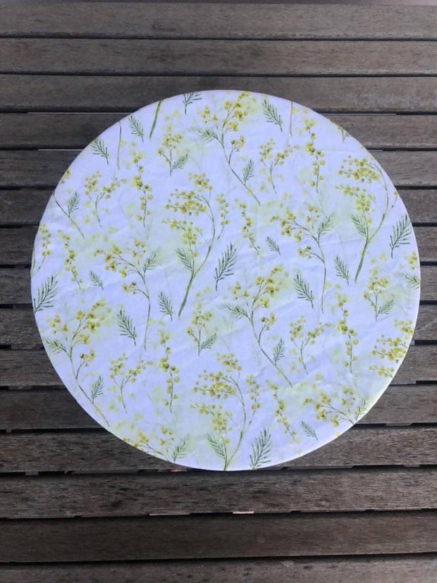 Reusable Fabric food covers- Yellow Wattle