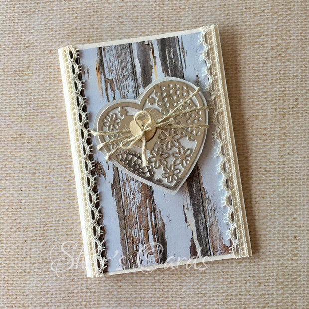 Rustic Heart Wedding/Engagement card