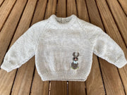 Hand Knitted Bunny Jumper