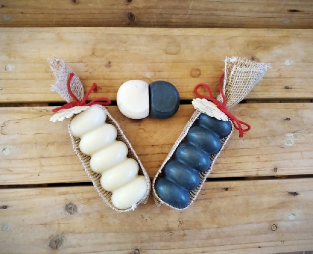 Cut Your Own Bastile Mini/Travel Scented Soap - 3 Logs ( 5 x 28g mini soap per log) less than 500g