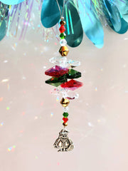 Santa Christmas suncatcher ornaments
