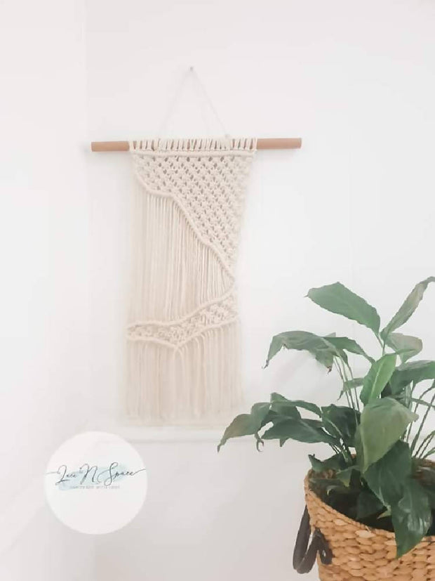 """NATURAL"" macrame wall hanging"