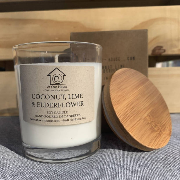 Coconut, Lime & Elderflower - Soy Candle