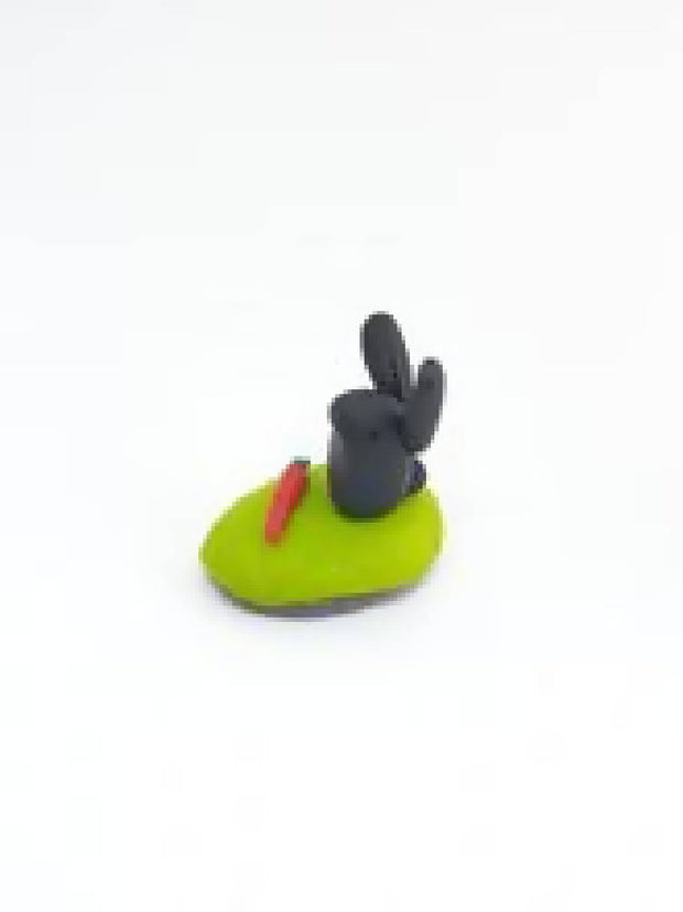 Miniature bunny rabbit sculpture collectable