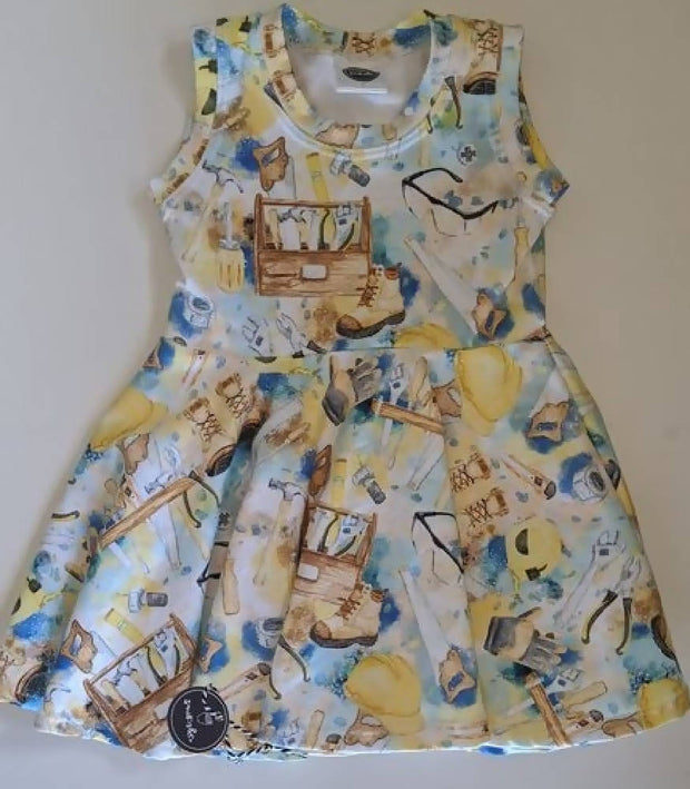 *MARKET SPECIAL *size 1 little tradie lady full twirly dress