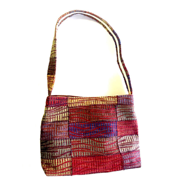 Red Centre up-cycled handbag - SALE
