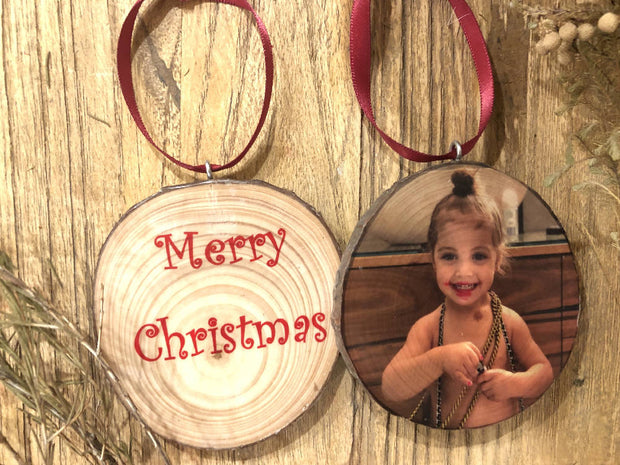 Custom Photo Tree Bauble, Photo Ornament, Personalised Bauble, Custom Christmas baubles, Photo Bauble, Picture Ornament, 1st Christmas