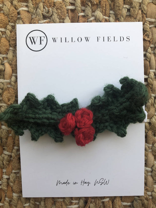 Crochet Holly Headband