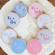 It's a Boy Baby Embroidery Hoop