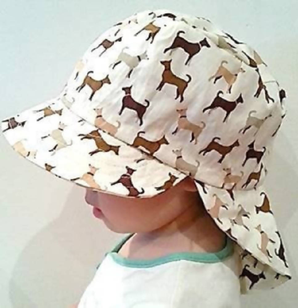 Adjustable Sunhat - Cute Dogs