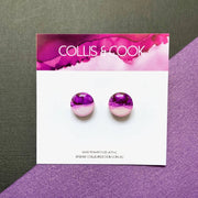 NEW Circular Studs-Various Colours 12mm